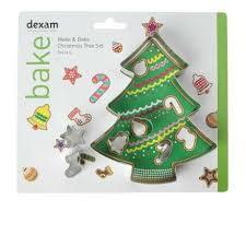 DEXAM 17851037 MAKE AND BAKE CHRISTMAS TREE CUTTER SET X6