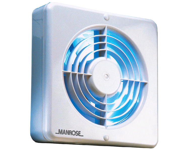 "Manrose 6"" 150mm Wall/Ceiling Quiet Fan Timer"