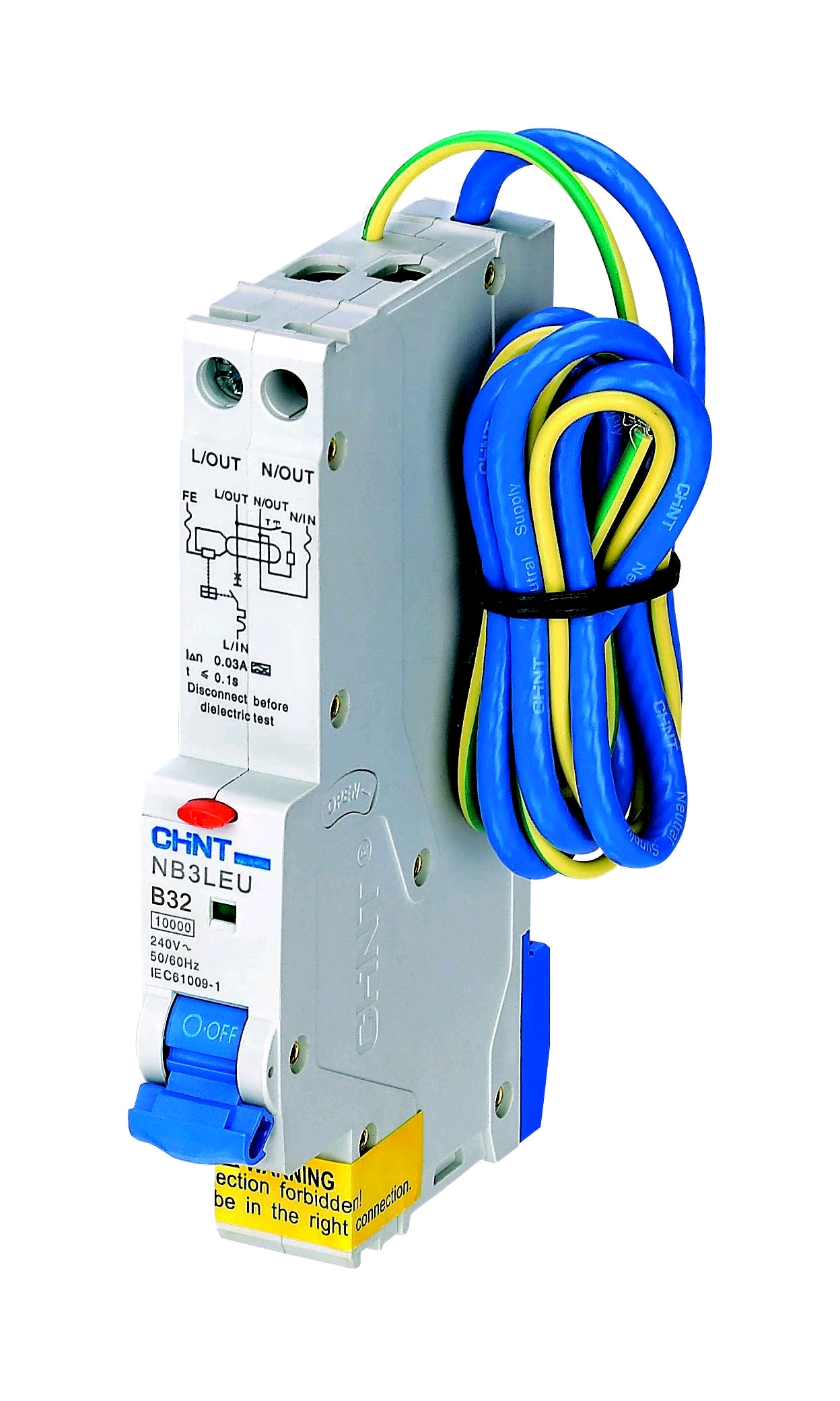 """Chint 32a 30mA RCBO """"B"""" Rated"""