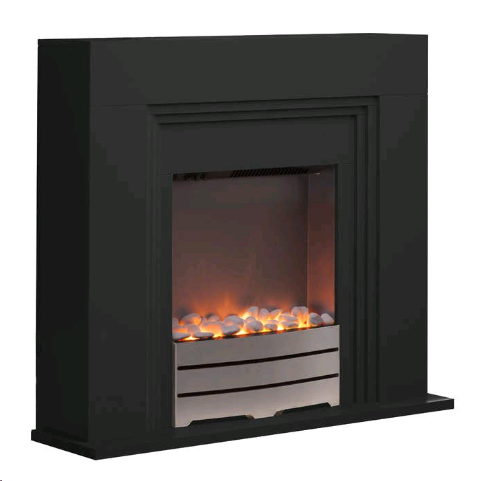 Warmlite Canterbury Black Fireplace Suite