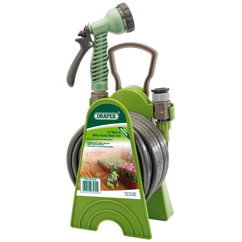 Draper 10mtr Mini Hose Reel Set
