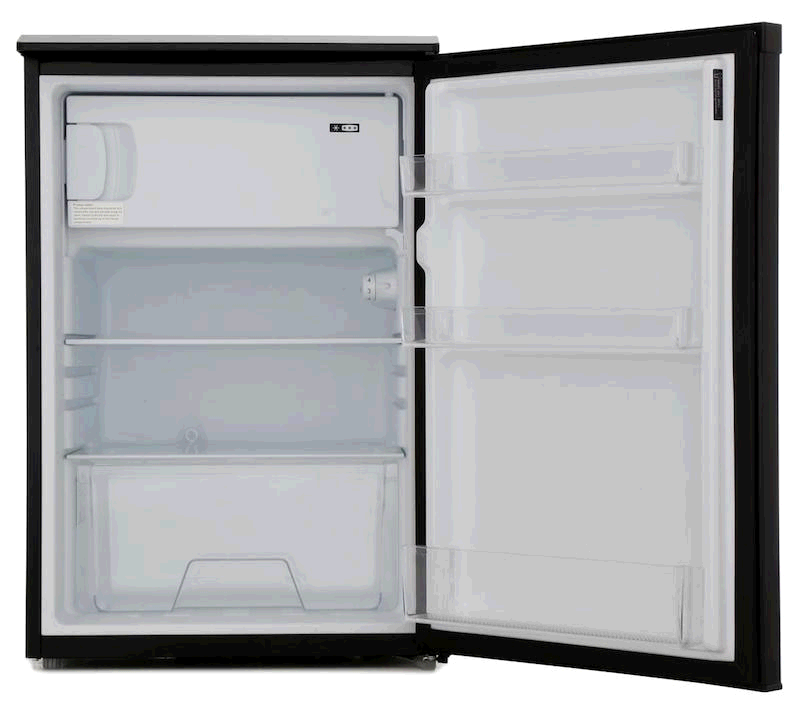 Lec Undercounter Fridge 123ltr c/w Freezer Box in Black H845 W553