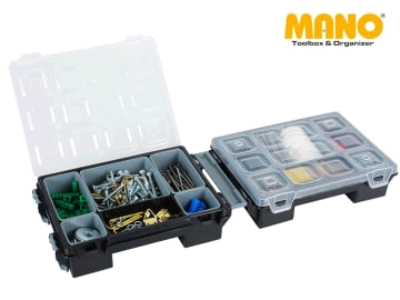 MANO 4070270 Twin Fold Organiser + Removable Cells T-ORG7B
