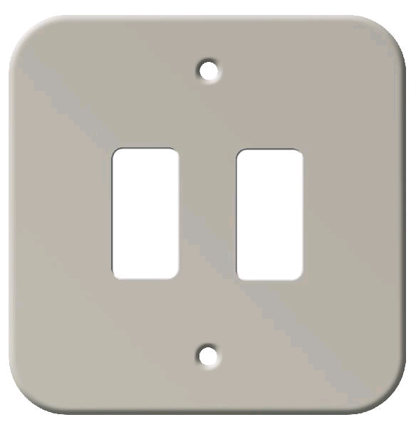BG 2Gang Metal Clad Front Plate