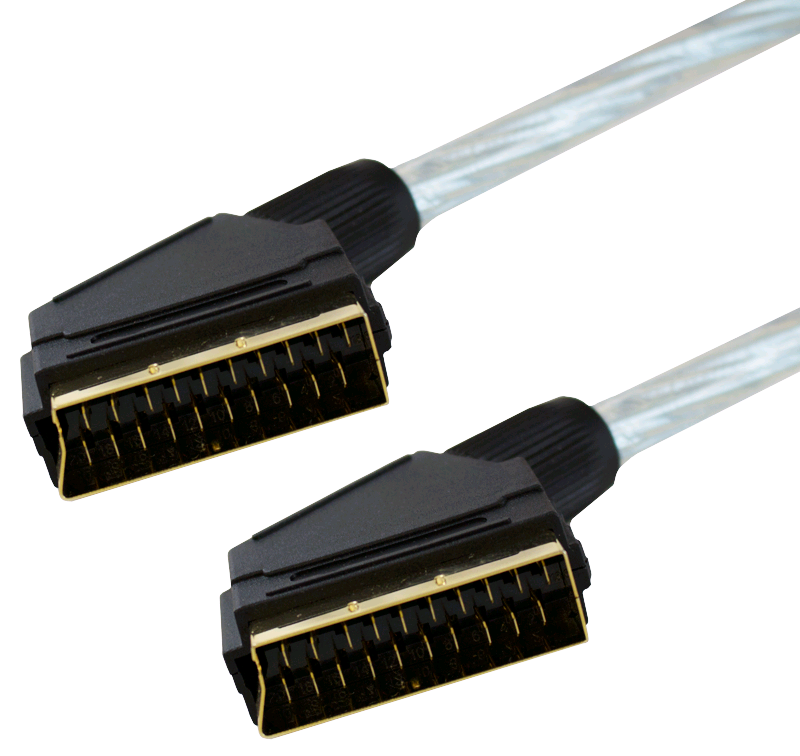 GJ Scart to Scart Lead Screened Gold 1.5Mtr