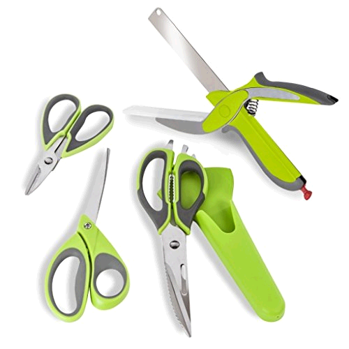 Tower Set of 4 Kitchen Scissors
