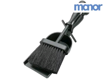 MANOR 4120609 Duchess Hearth Tidy Black 300mm 1153
