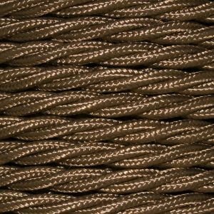 Cable 3 Core Twisted Braided 0.75mm Havana Gold