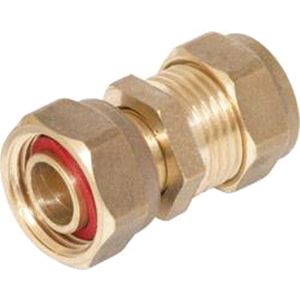 "Copper Straight Tap Connector 15mm x 1/2"" Compression"