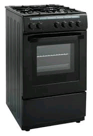 STUDIO2 SINGLE CAVITY GAS COOKER Black