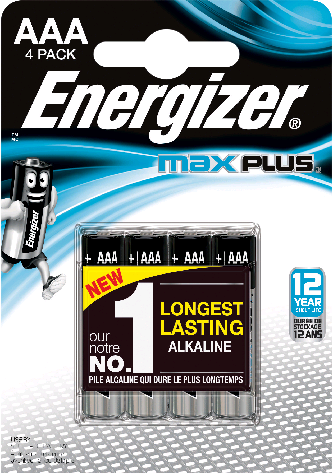 Energizer MAX Plus Power AAA Battery 4 Pack