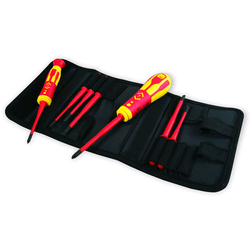CK Dextro 1000V VDE Interchangeable Slim Bladed Screwdriver Set