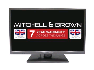 "Mitchell & Brown 43"" LED HD Ready TV, T2 Tuner Central stand, Freeview,  2 HDMI, WARRANTY MUST BE REGISTERED"