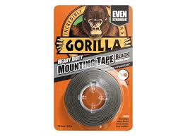 Gorilla Tape Black Heavy Duty Mounting 25.4mm x 1.52Mtr