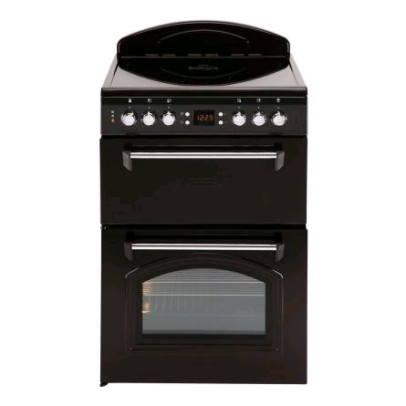 LEISURE ELECTRIC DOUBLE OVEN BLACK CERAMIC