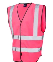 Scan Hi-Vis Waistcoat Pink Ladies Medium