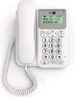 BT Decor Corded Phone White with Screen