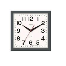 Acctim Rydon Wall Clock with Non Ticking Hands Storm Grey
