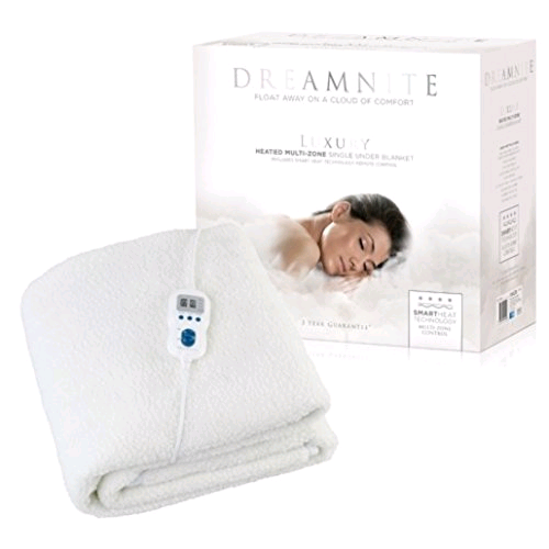 Dreamnite Multizone Single Heated Fitted Fleece Electric Blanket