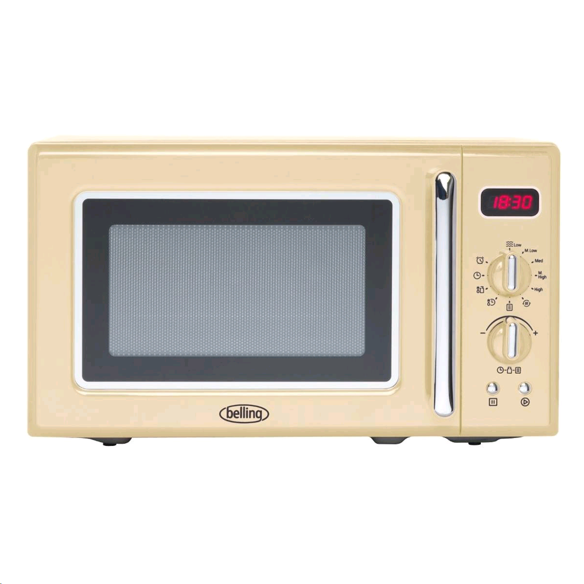 Belling 20ltr Microwave 800w in CREAM c/w Clock Timer