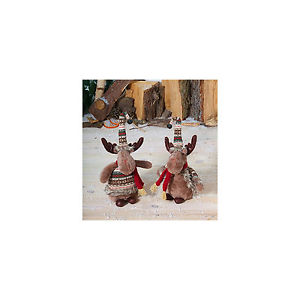 NOMA 7816006 FUN CHRISTMAS MOOSE 22.5CM ASSORTED