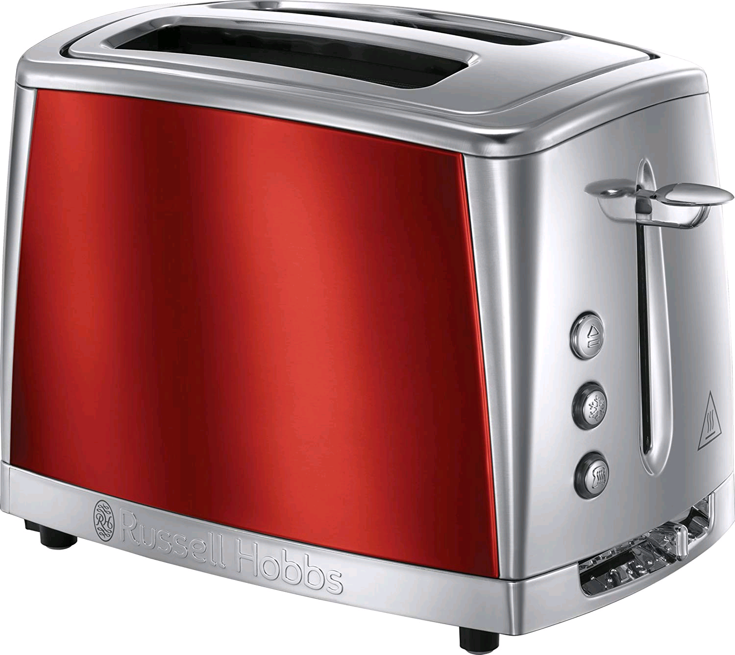 Russell Hobbs Luna 2 Slice Toaster- Red & Stainless