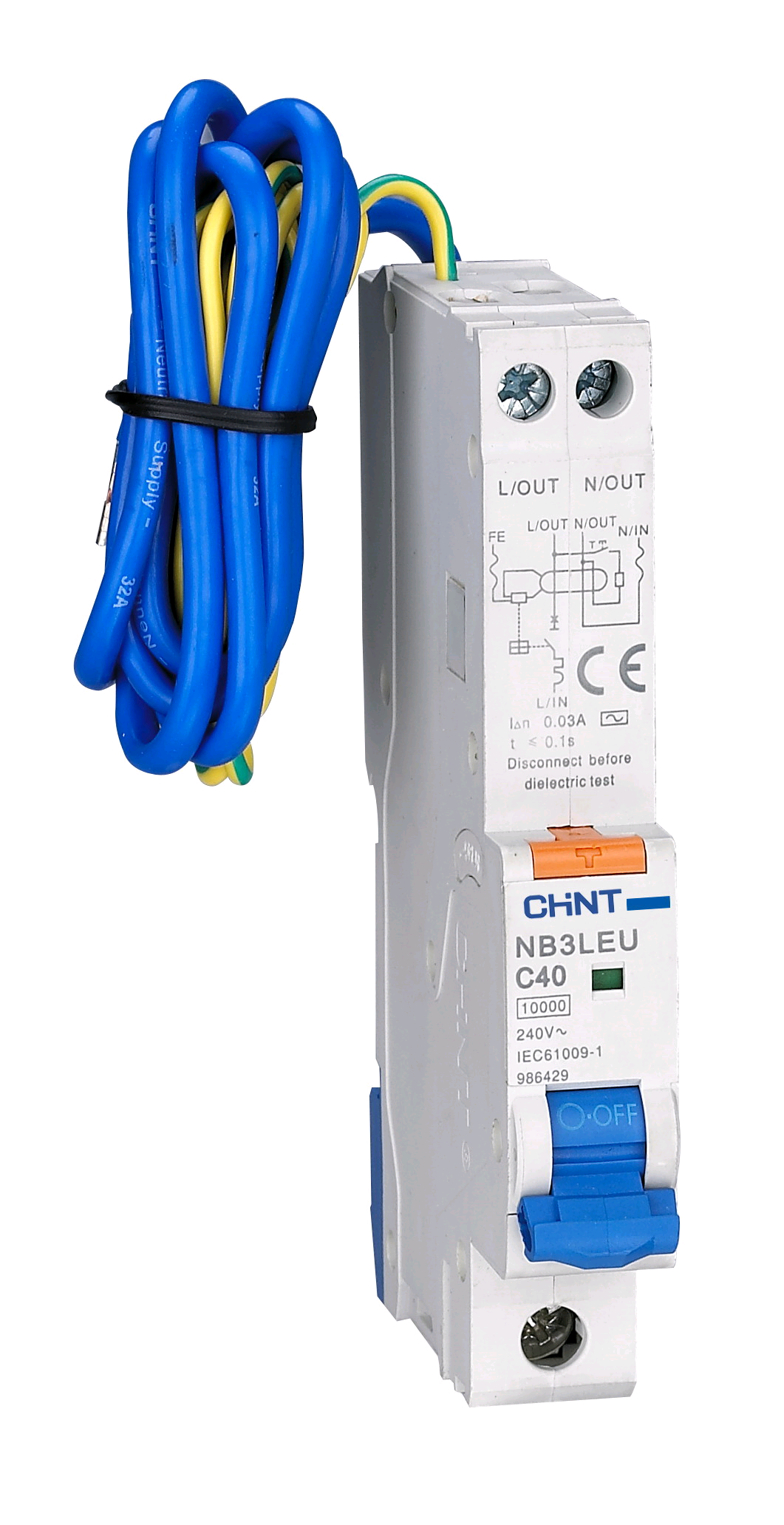Chint 10a 30mA 1P&N  RCBO