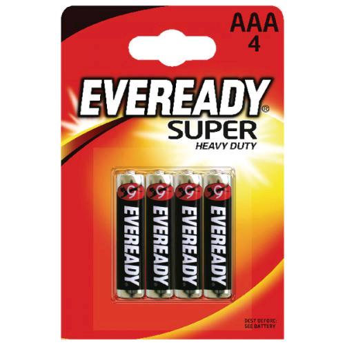 Eveready AAA Super R03 Zinc Battery