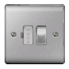 BG 13a Switched Fused Spur Brushed Steel