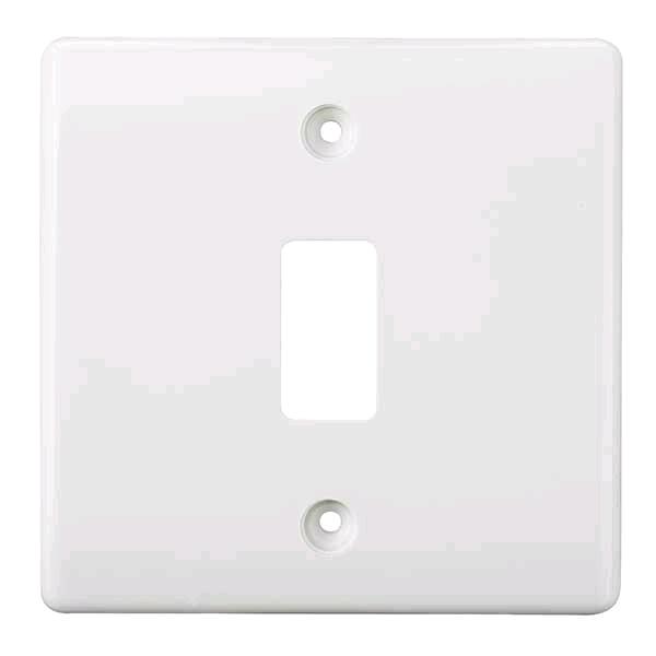 BG Nexus Grid Front Plate White