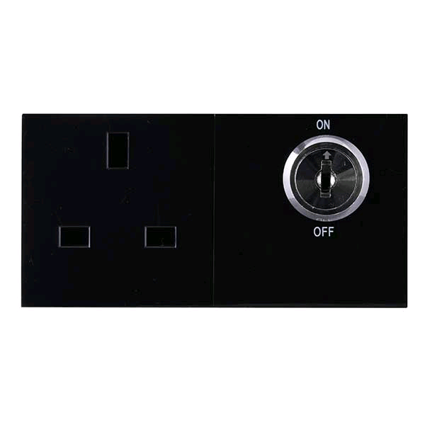 BG Controlled Switch Socket Black