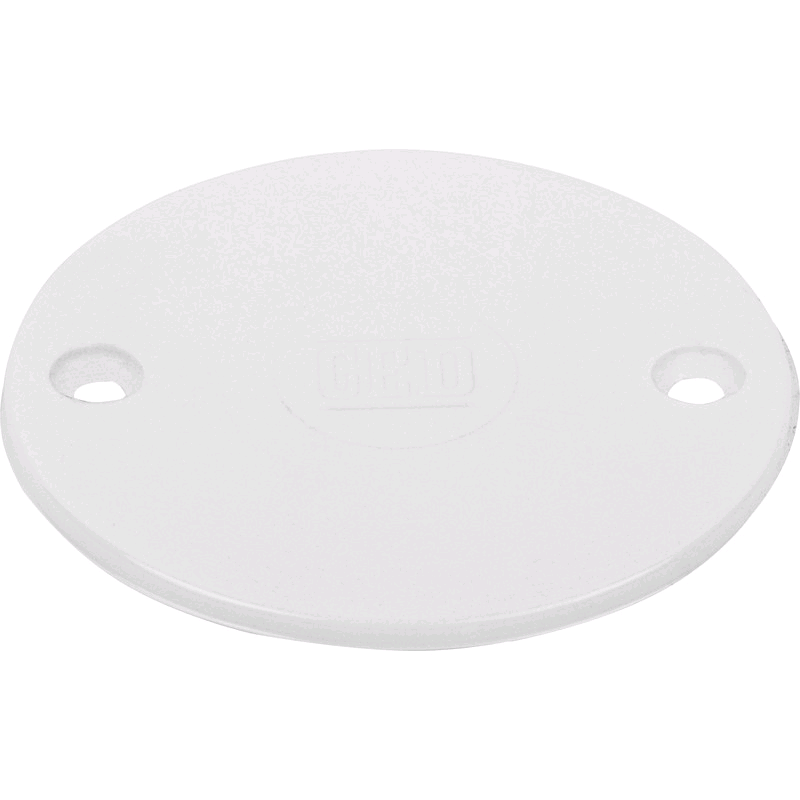 Falcon Conduit Circular Lid White