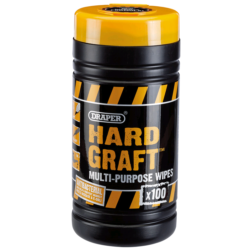 Draper Hard Graft Heavy Duty Wipes