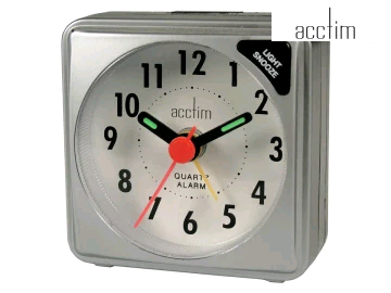 Acctim 12587 Ingot Alarm Clock Silver 0021261