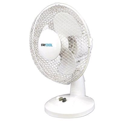 Lloytron Stay Cool 9in Desk Fan White