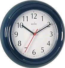 Acctim Wycombe Blue Wall Clock Requires 1 x AA Battery (not included)