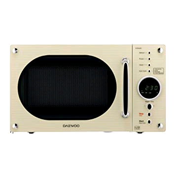 Daewoo Retro Cream Design Microwave 800W 23L