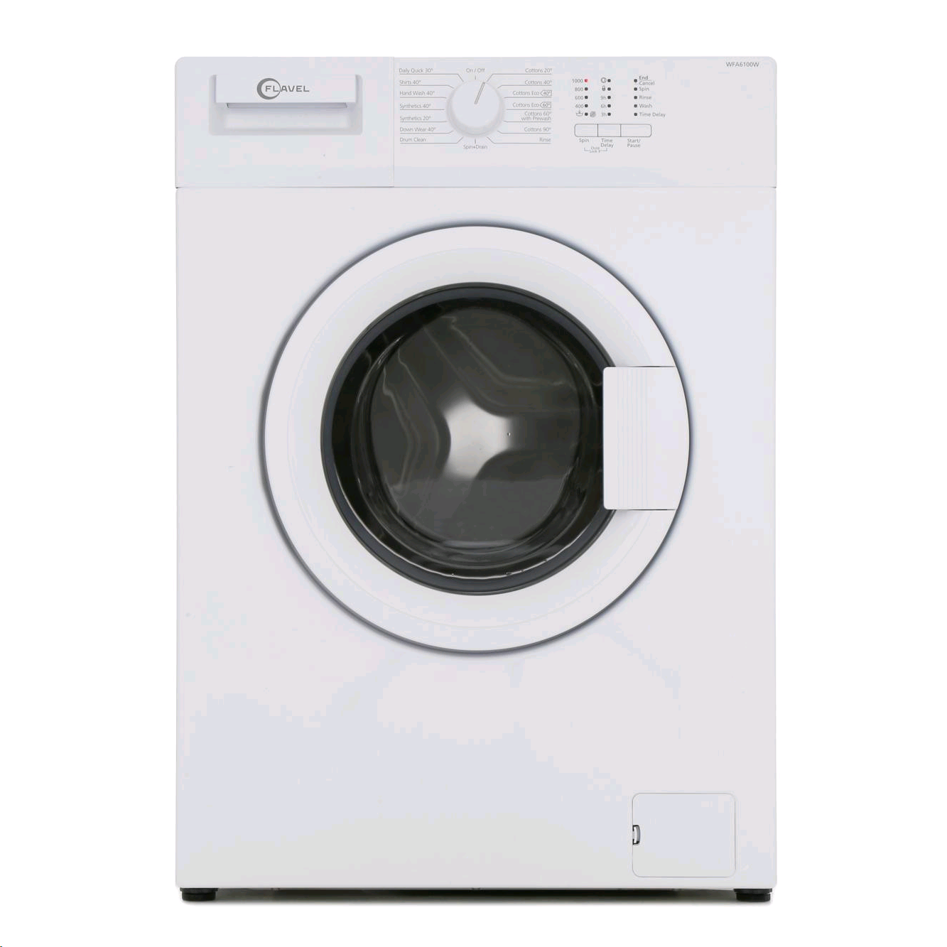 Flavel Washing Machine 1000spin 6KG A+ H850 W600 D450 28min Full wash LED Display
