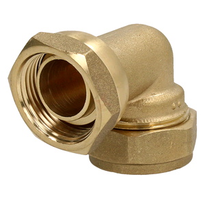 "Copper Bent Tap Connector 22mm x 3/4"" Compression"