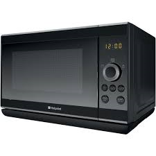 Hotpoint Microwave 25Litre Capacity Black Basic Control Dials