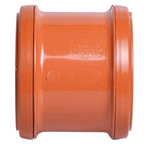 Underground 100mm Coupler Double Socket Terracotta D105 SOIL