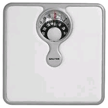 Salter Mechanical Bathroom Weighing Scales Compact - Silver/White