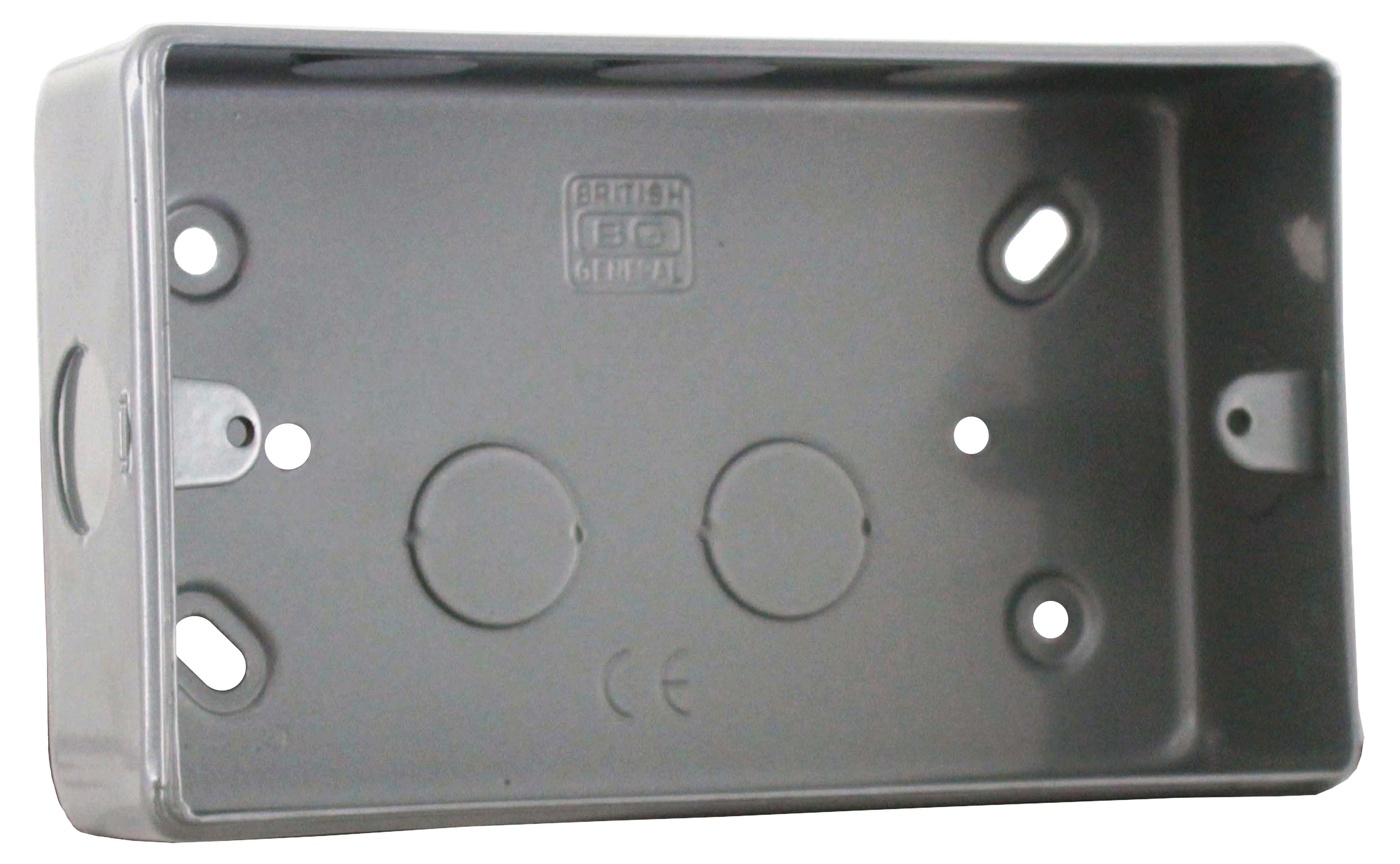 BG Metal Clad 2gang Surface Back Box