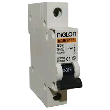 "Niglon 63A ""C"" Rated Single Pole MCB"