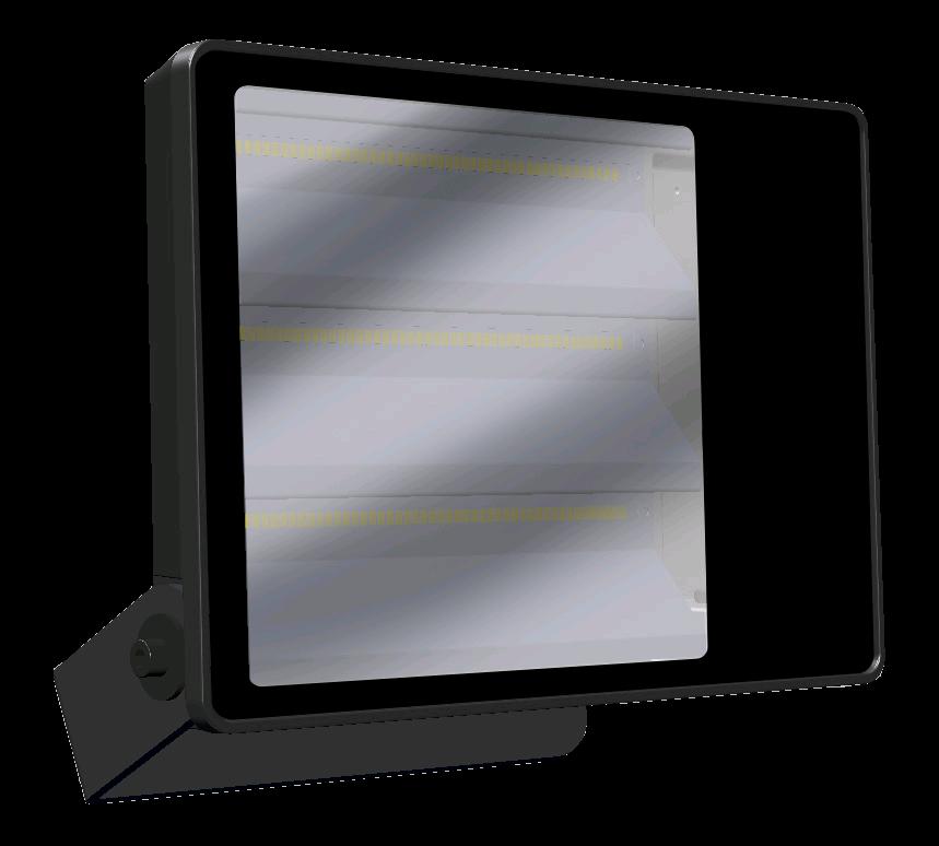 Loxa 120W LED NW Plug & Play Floodlight Black 4K