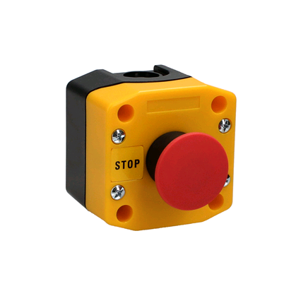 CED Red Mushroom Push Button 240v Stop IP65