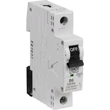 MK Sentry SP 6a B Rated MCB