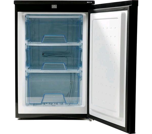 Lec Undercounter Freezer BLACK 84 Ltrs H645 W553 D574