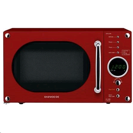 Daewoo Retro Red Microwave 20L 800W Touch Control