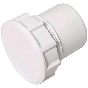 Floplast Wasterpipe 50mm Access Plug Solvent Weld